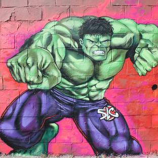 Hulk Marvel backdrop set desgin