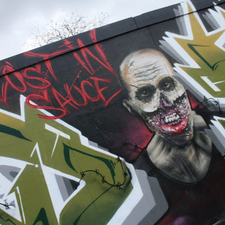 The Walking Dead Zombie graffiti charater painting artwork