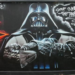 Darth Vader Graffiti Painting