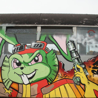 Bucky O'hare 80's Cartoon graffiti