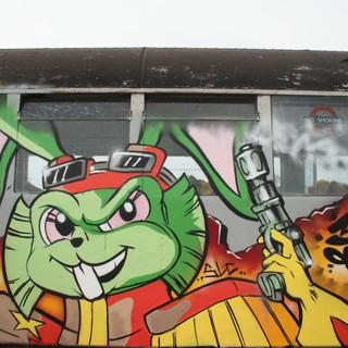 Bucky O'hare 80's Cartoon graffiti
