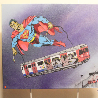 Superman Painting on Canvas