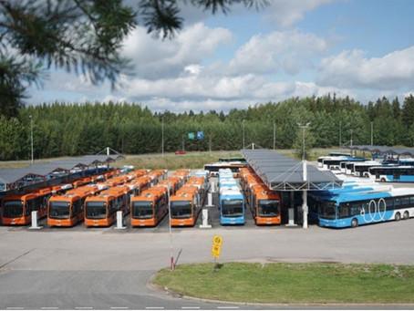 Los primeros eBuses BYD llegan a la capital finlandesa