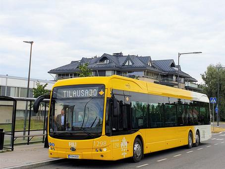 Los primeros buses eléctricos BYD de Finlandia salen a las calles