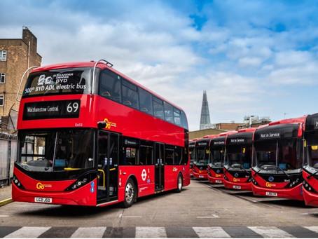 El bus eléctrico número 500 de la alianza BYD ADL se entrega a Go-Ahead London
