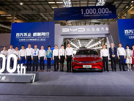 BYD construye un millón de automóviles de pasajeros de energía renovable
