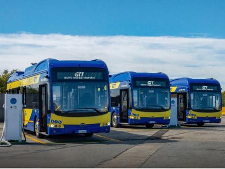 BYD firma el mayor pedido de buses eléctricos para Turín