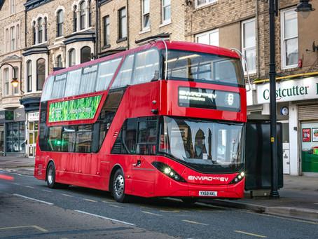 First Bus encarga 5 buses eléctricos de dos pisos para servicios de Park & Ride en Leeds