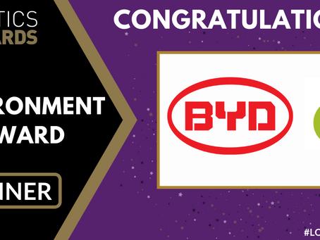 BYD junto a Cottage Farms ganan Premio al Medio Ambiente