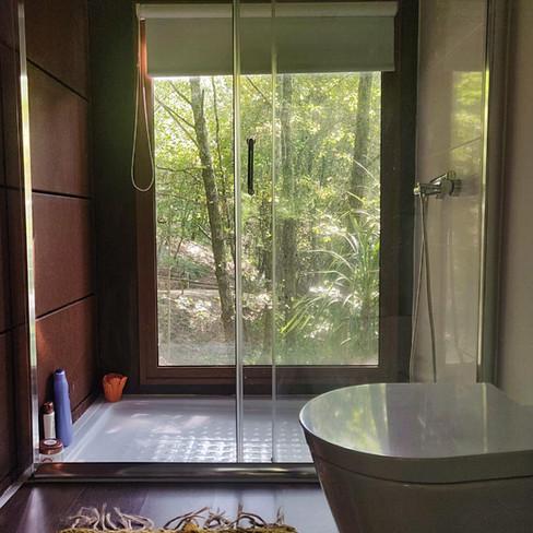 Quarto de Banho c/ vista panorâmica Penedo Bungallow