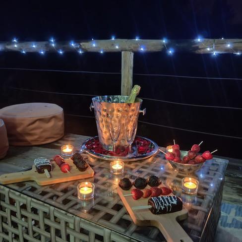 Jacuzzi Bungalow Pacote Romântico Decoração