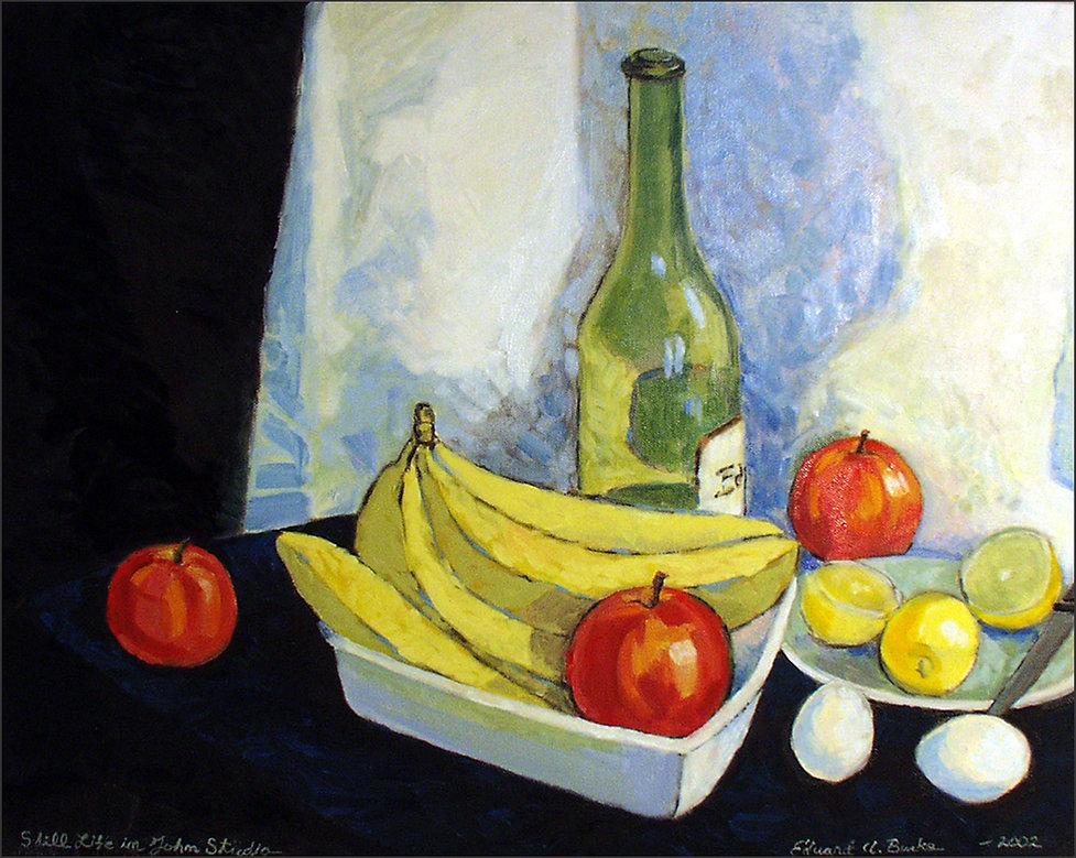 "Edward Burke ""Still Life in John's Studio"" – 2002 Oil on Canvas"