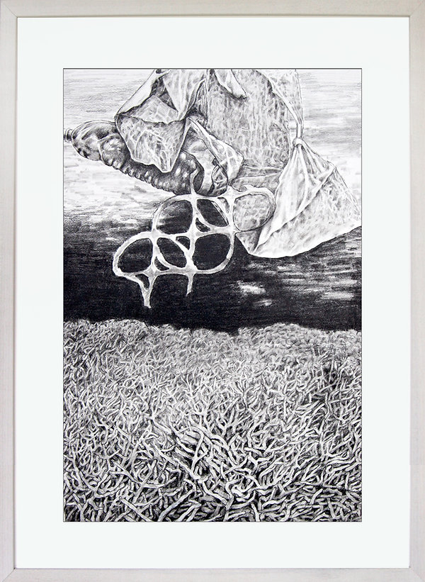 Somewhere Beneath the Sea Drawing by Edward A. Burke