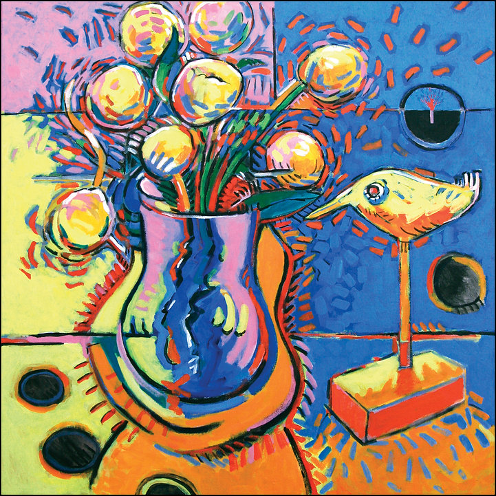 """Early Spring Espresso-ism""  Still Life painting by Edward Burke Medium: Oil / Canvas   Dimensions: 36"" x 36"""