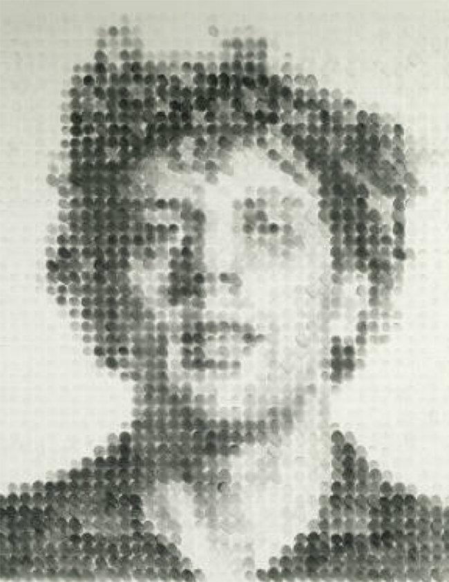 1980 - Chuck Close - Stamp Pad Drawing