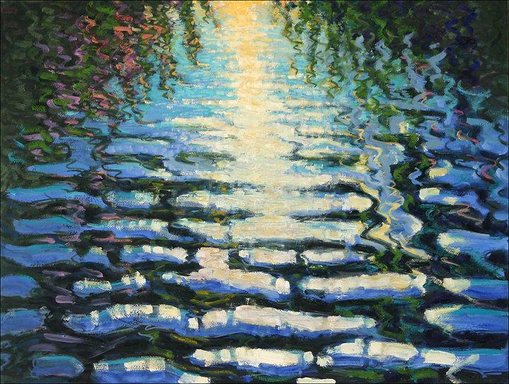 """Evening Breeze"" Landscape painting by Edward Burke - Croton-on-Hudson NY"