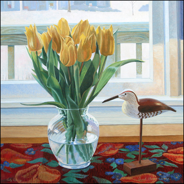 """Early Spring"" Painting by Edward Burke   Medium: Oil / Canvas   Dimensions: 36"" x 36"""