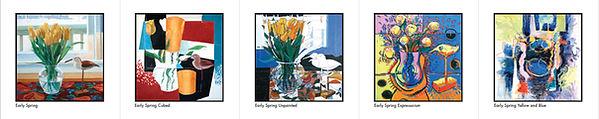 Early Spring Series of paintings by Edward Burke - Half Moon Bay Croton-on-Hudson NY