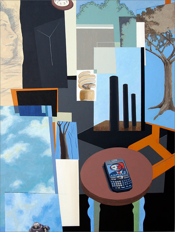 """AmEx Card"" Acrylic on Canvas painting by Edward Burke"