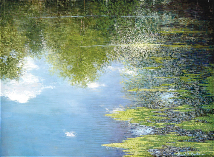 Mt. Airy Pond Painting by Edward Burke