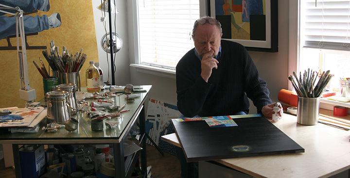 Ed Burke - Peekskill NY Studio - Celestial Tea Pot painting