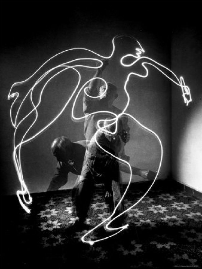 1949 - Pablo Picasso – Light Drawings - Drawing Lesson by Edward Burke