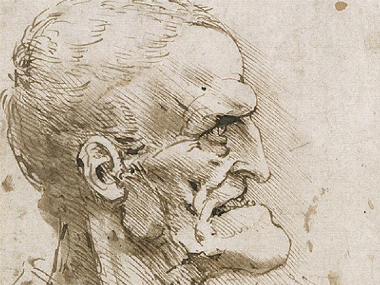 1485-90 - Leonardo da Vinci - grotesque profile