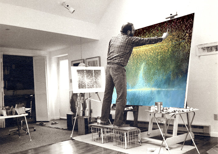 Ed Burke - Croton-on-Hudson NY Studio - Still Water painting in progress