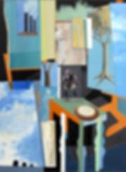 "Visa Card"" Acrylic on canvas painting by edward burke"