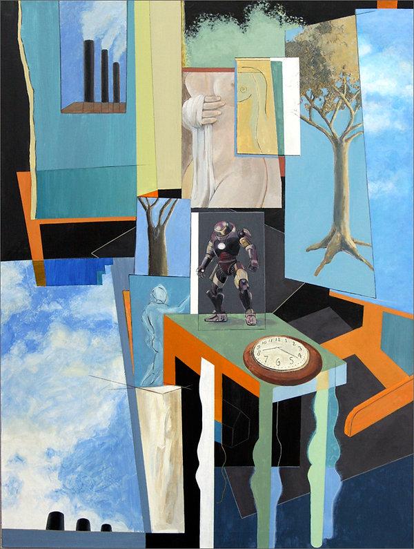 "Master Card paintng by Edward Burke  Acrylic / Canvas   30"" x 40"""