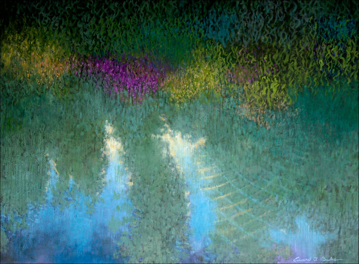 """""""Delicate Ripples"""" Landscape painting by artist Edward A. Burke"""