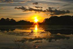 Sunset after a storm, Pecks Pond