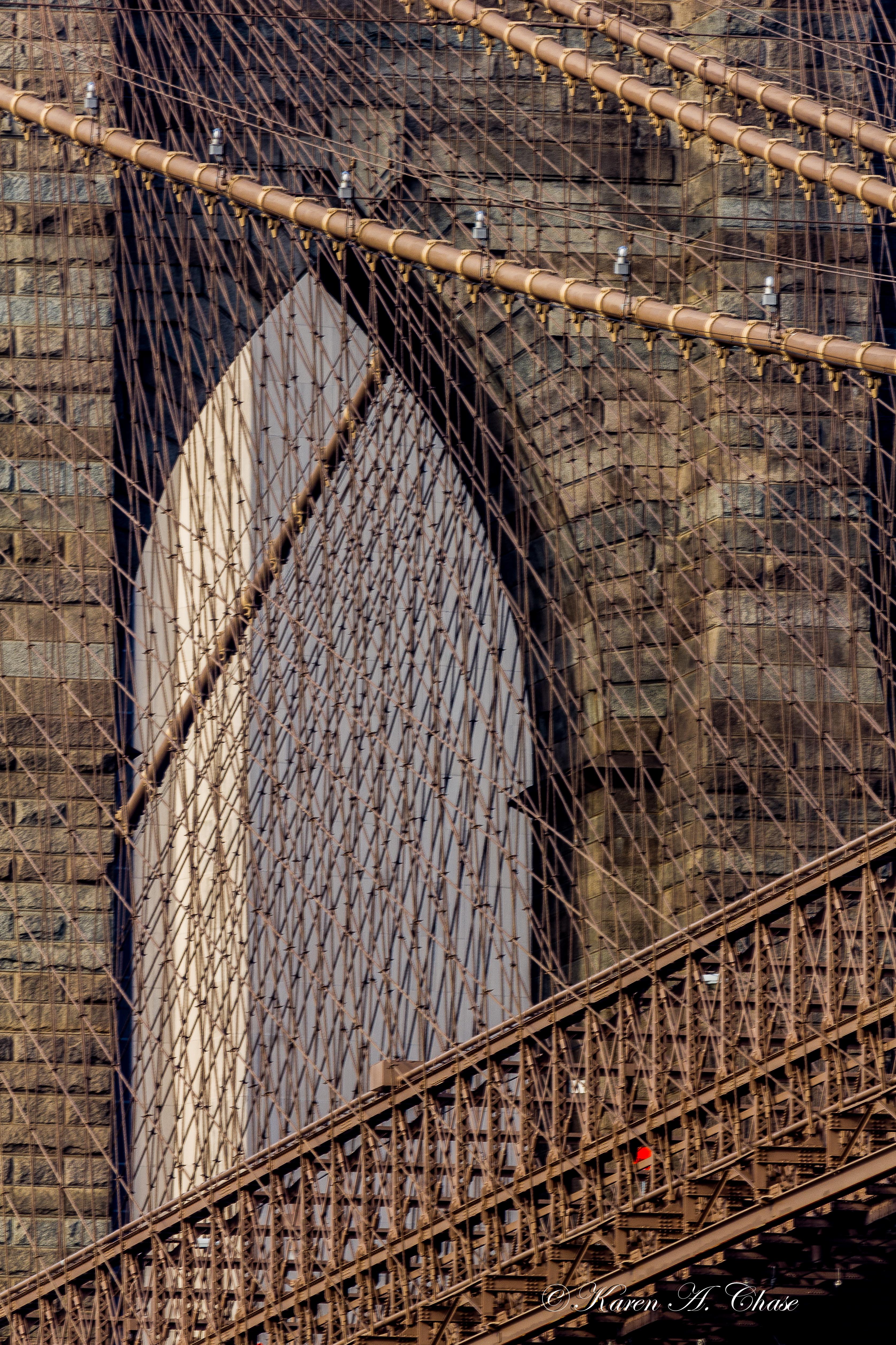 Detail Brooklyn Bridge