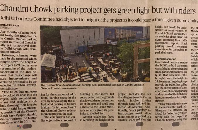 Chandni chowk new parking