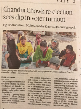 Re- election at Chandni chowk