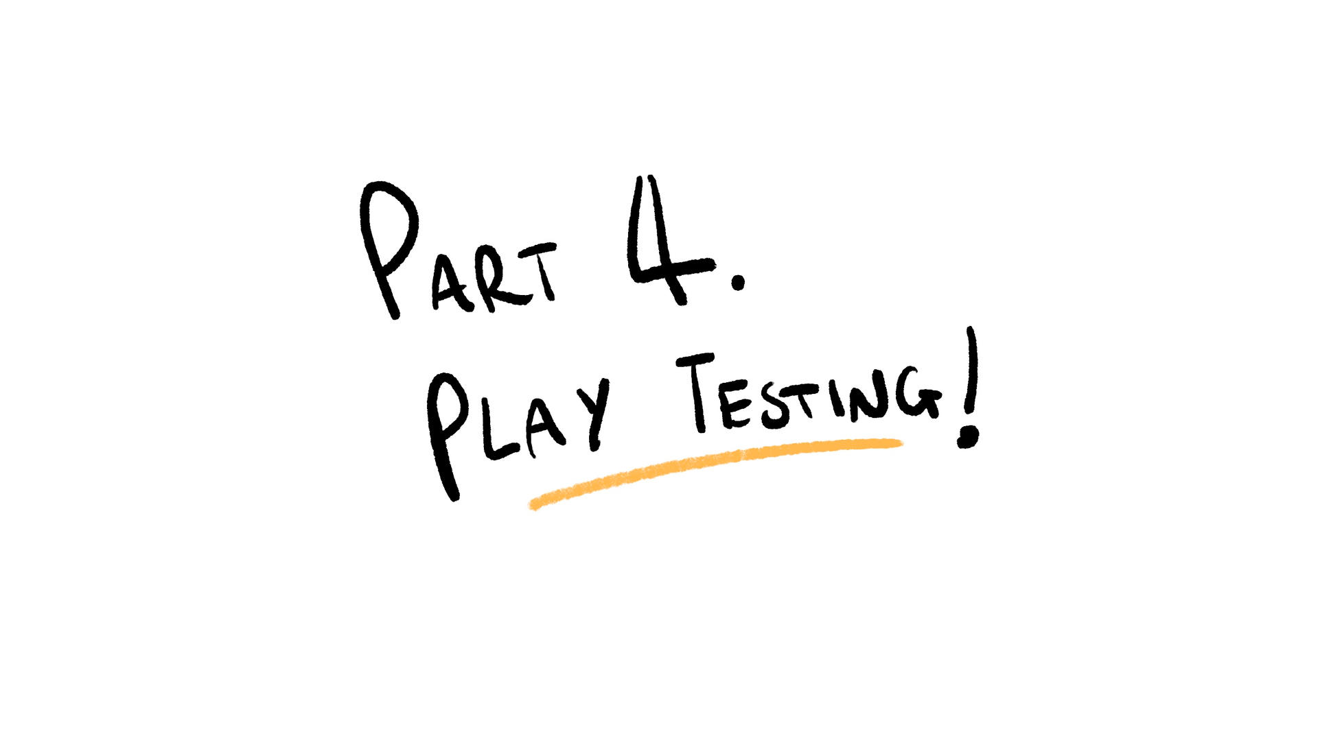 Part 4 - Play-testing