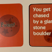 Test printing of Event Cards
