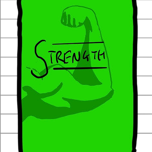 Early design of the Strength Cards