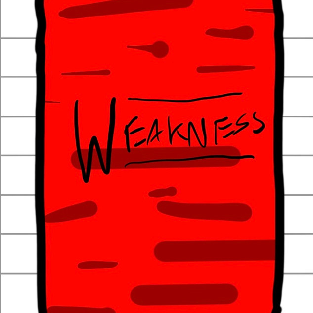 Early design of Weakness Cards