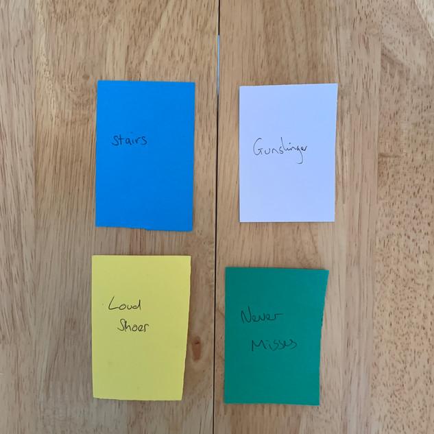 Prototype of cards