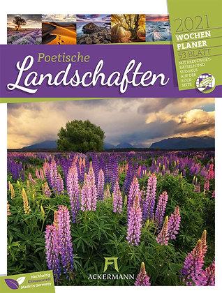 Poetische Landschaften - Wochenplaner Kalender 2021