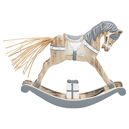 Dekorating Rocking Horse grey medium
