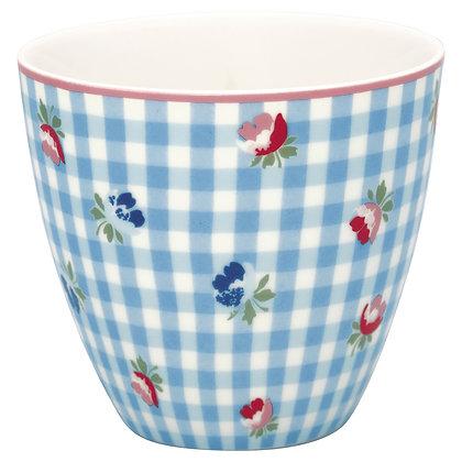 Latte Cup Viola Check pale blue