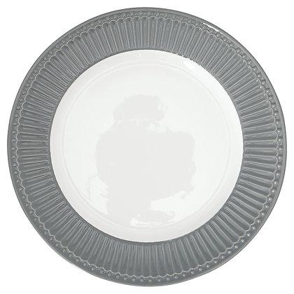 Dinner Plate Alice stone grey