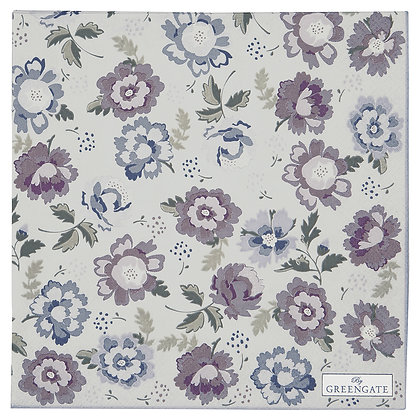 Papier Servietten Beatrice pale grey