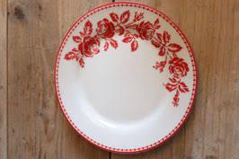 Plate Fleur red
