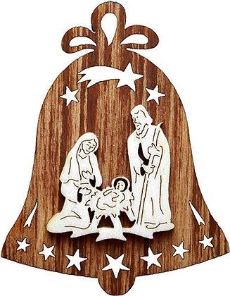 Hl. Familie auf Glocke Beidseitig