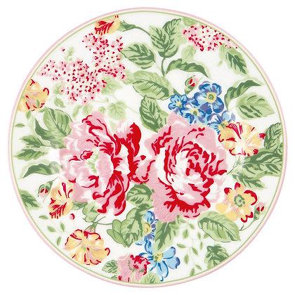 Plate Emmaline white