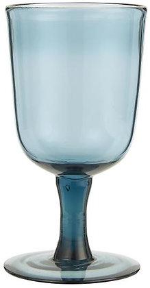 Rotweinglas blau