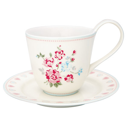 Cup & Saucer Sonia white